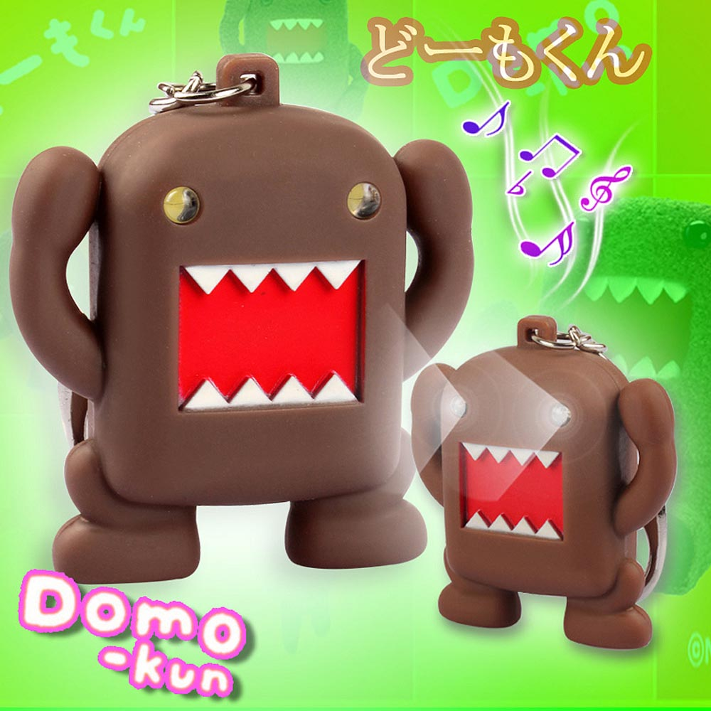 Free Shipping Domo Kun Voice Led Key Chain Novelty Promotional Gifts