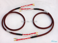 HIFI Speaker Cable With Japan Origin Canare Speaker Wire 4S12F American Budweiser Copper Gold Plated 2