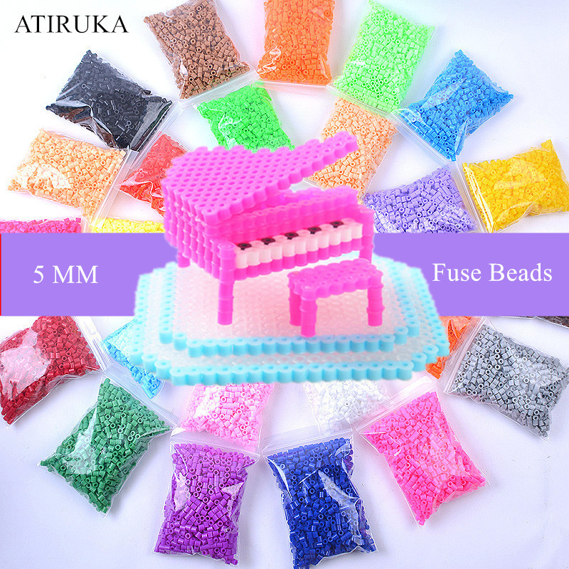 500pcs/pack 5mm Hama Beads 3D Puzzle Toys Zabawki 48 Colors Perler Educational Toys Craft Puzzle Toys for Children Brinquedos(China)