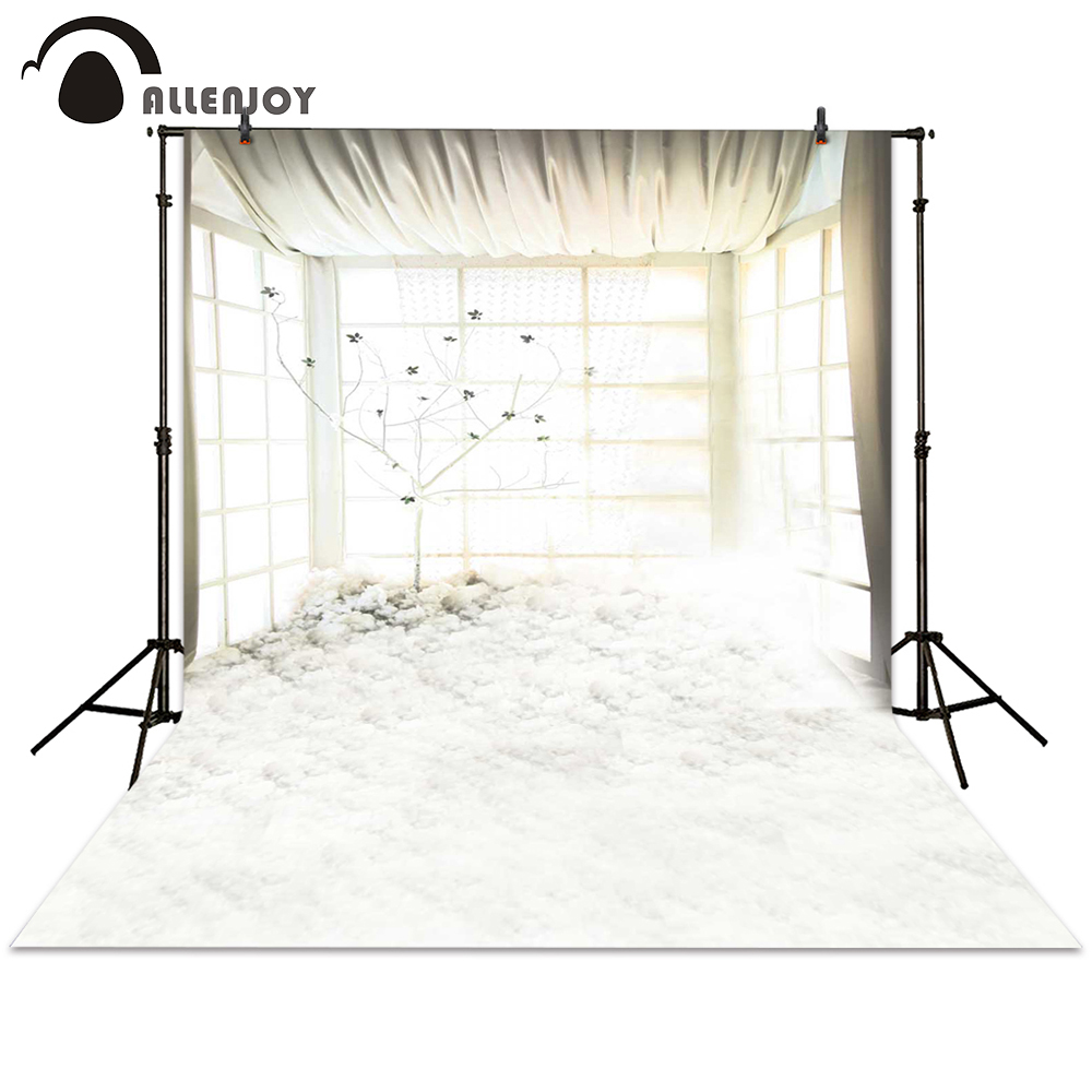 Allenjoy photography backdrops tree wedding bright pure white window background photocall photographic photo studio