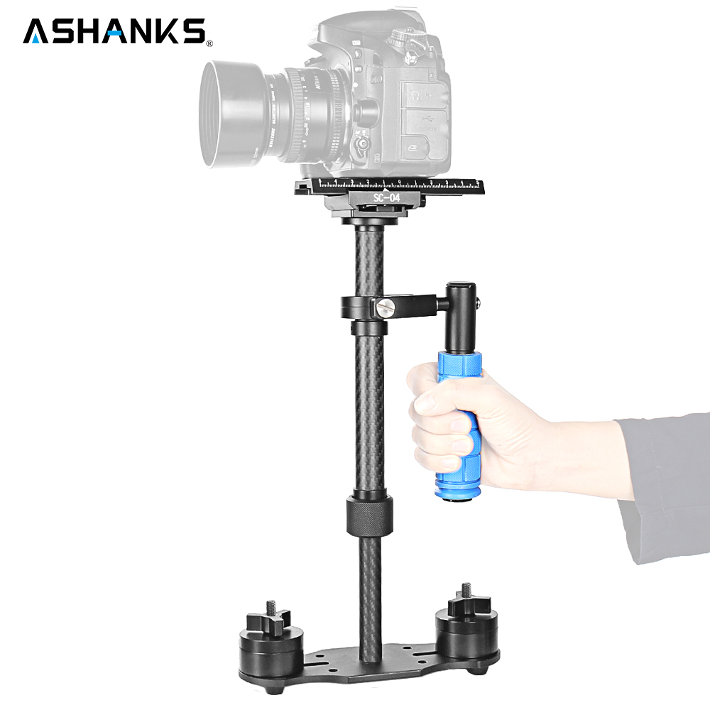 Ashanks 15in/40cm Mini Carbon Fiber Handheld Stabilizer/Steadcam/Steadicam Pro Version for Camera Video DV DSLR Nikon Canon Sony