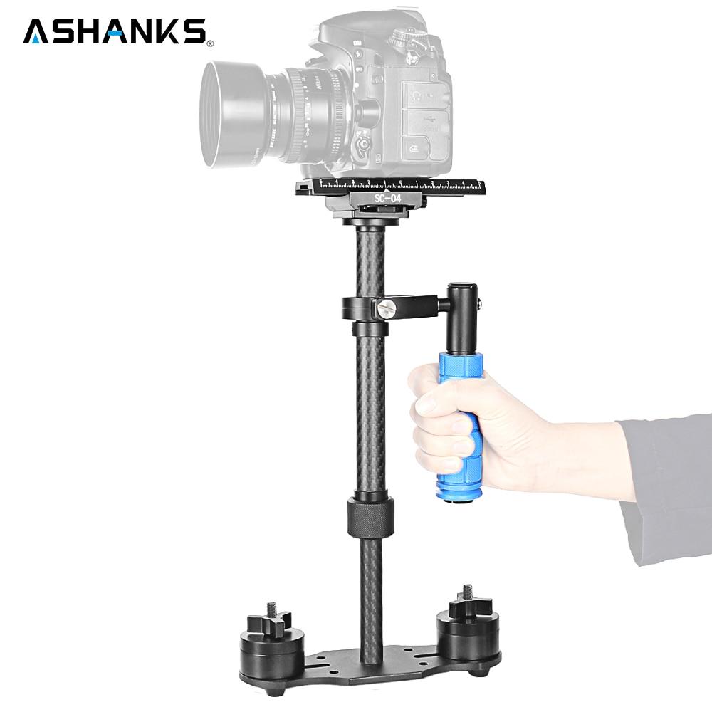 Ashanks 15in/40cm Mini Carbon Fiber Handheld Stabilizer/Steadcam/Steadicam Pro Version for Camera Video DV DSLR Nikon Canon Sony