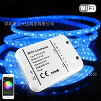 Free Shipping Wireless IOS/Android Phone WiFi Remoted LED Controller for LED Light DC12 24V RGB/WW/CW