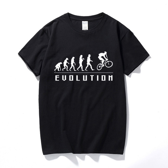 Evolution Of Mountain Biking T Shirt Funny Birthday Gifts For Boyfriend Him Cyclinger Men Hip Hop Cycle Biker Bicycle