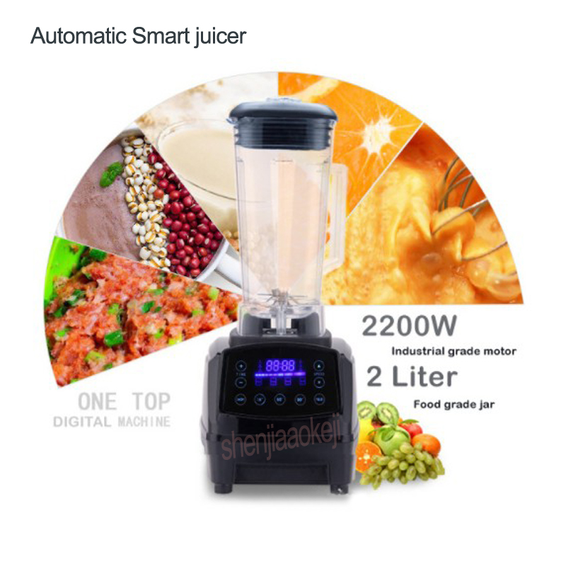 Touchscreen Digital Automatic Smart Timer 3HP BPA FREE Professional smoothies blender mixer juicer food fruit processor 2L 2200w 2l touchscreen digital automatic smart timer 3hp bpa free professional smoothies blender mixer juicer food fruit processor 2200w