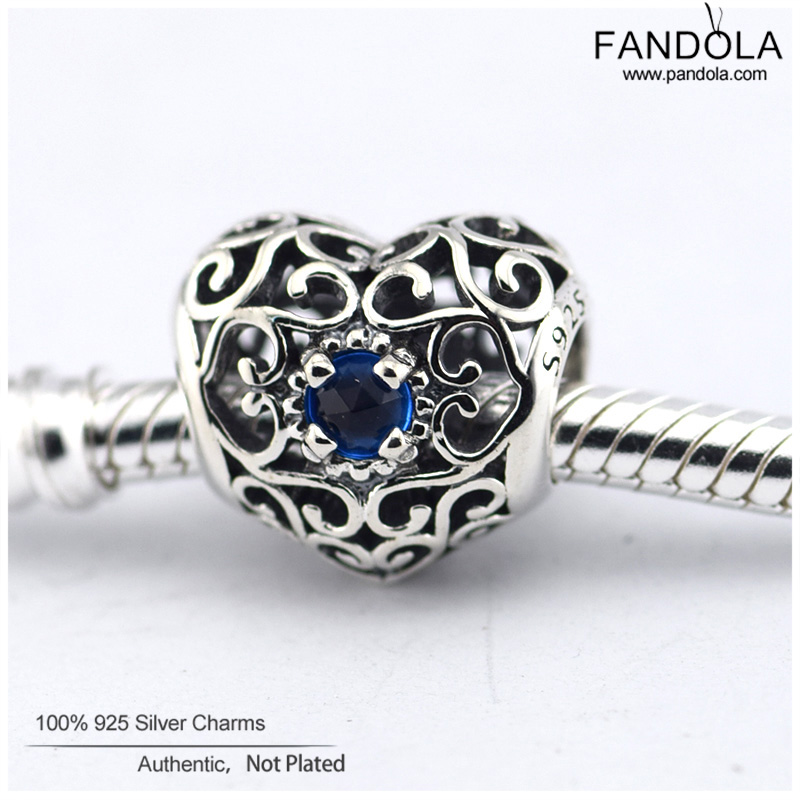 a8eb0ee1f ... Fits Pandora Bracelets December Signature Heart Birthstone Charms  Crystal Beads 925 Sterling Silver Jewelry DIY Making ...
