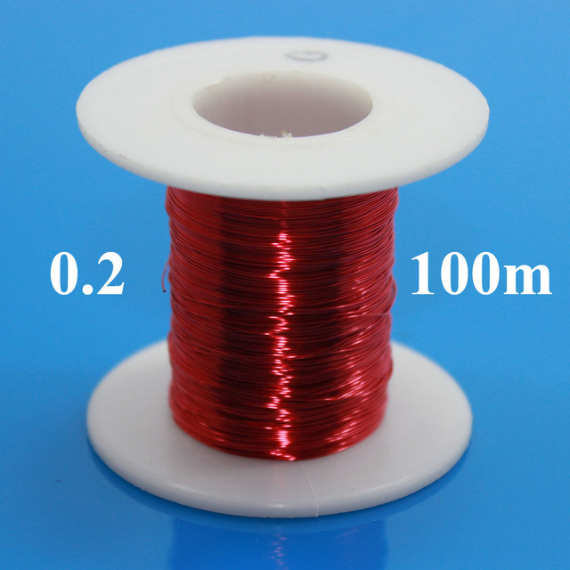 0.2mm x 100m pc Red Magnet Wire Enameled Copper wire Magnetic Coil Winding  0.2 mm Red 1896561f10