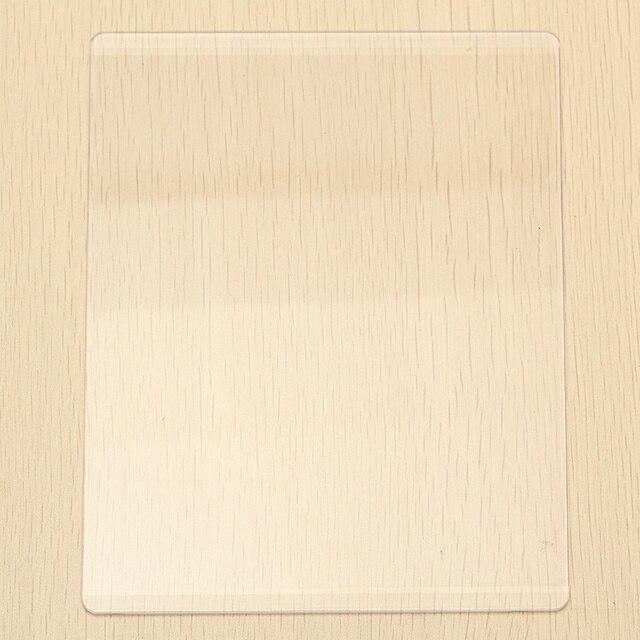 KiWarm Placa de estera de corte de acrílico transparente para troquelado DIY troquelado troquel adaptador de plataforma espaciador transparente 3mm/ 5mm