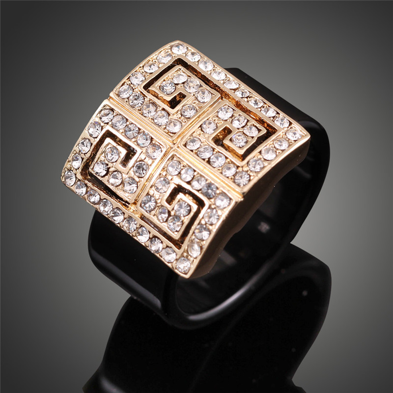 famous brand designer gold color wedding engagement rings for women stylish acrylic bague j01846china