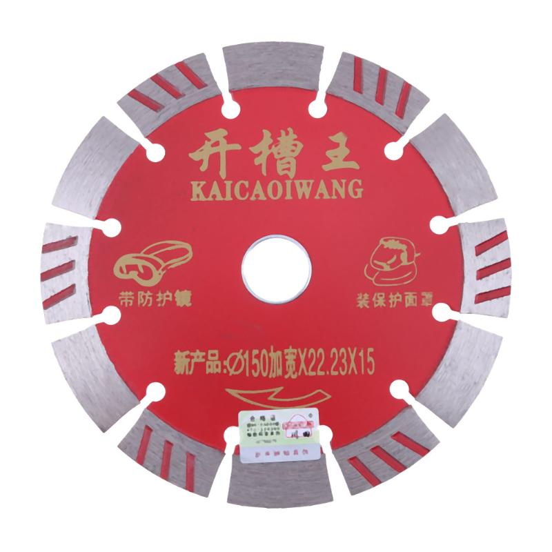 Diamond Saw Blades Cut Concrete Paver Tile Stone Carbide Disc 2.2mm Thickness Ceramic Tile Cutting Disc 150mm Saw Blade berrylion diamond saw blade circular saw 114mm cutting disc wet diamond disc for marble concrete stone cutting tools