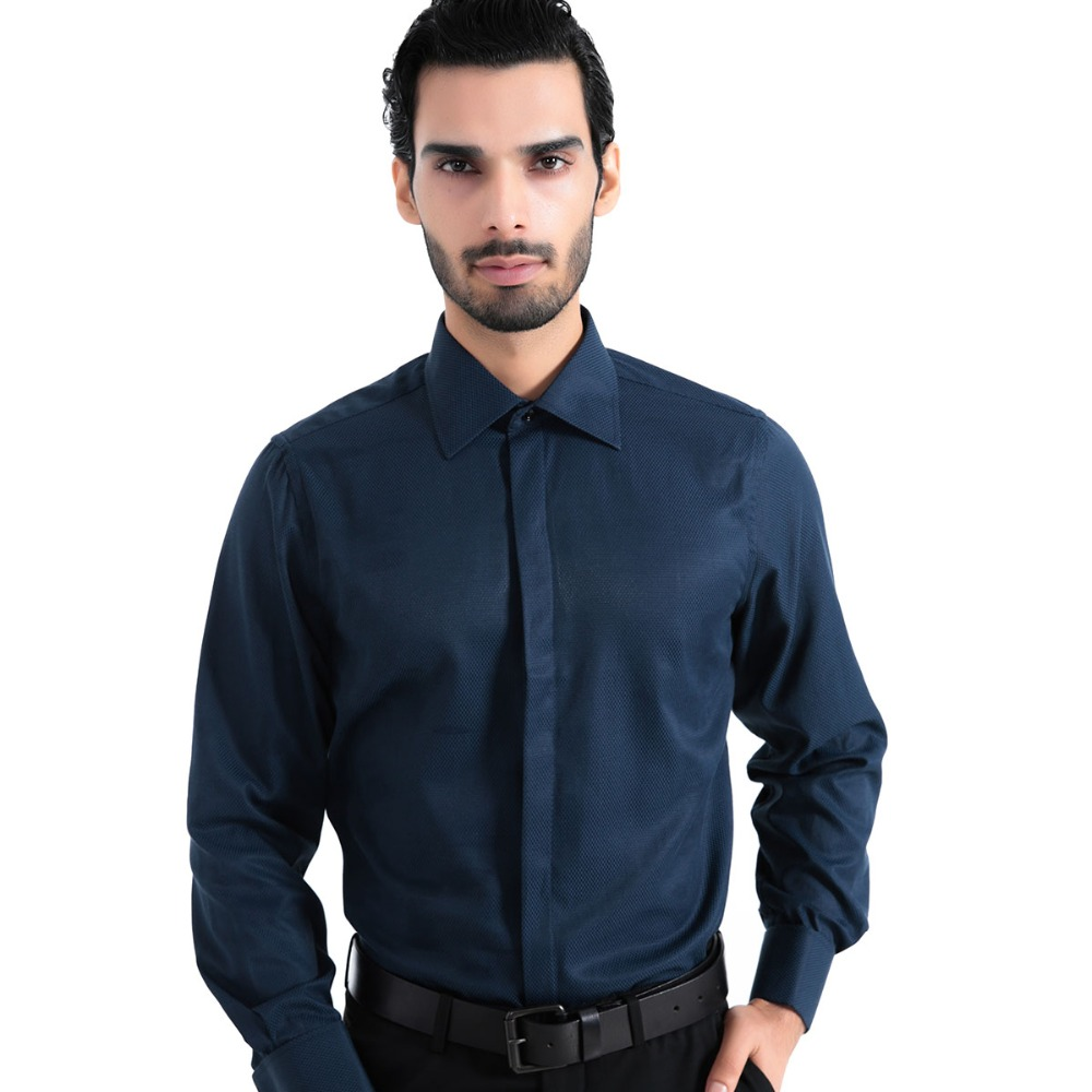 Mens tuxedo shirt long sleeve dobby fabrics europe size for Men s regular fit shirts