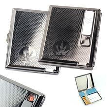Built-in USB Flamelessอิเล็กทรอนิกส์แบบชาร์จเบากับกรณีบุหรี่