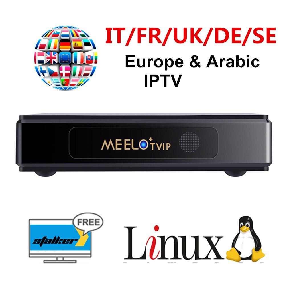 MEELO TVIP Linux IPTV M3U suppor Stalker IPTV abonnement 1 jahr Europa Deutschland portugal Französisch Italia UK Englisch-in Digitalempfänger aus Verbraucherelektronik bei  Gruppe 1