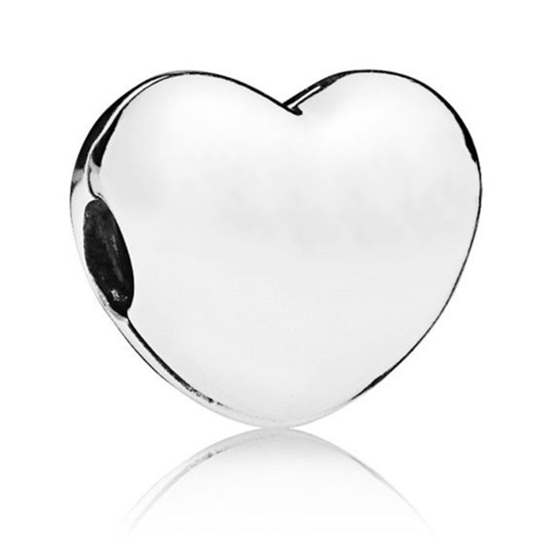2019 New 925 Sterling Silver Stopper Bead Heart Shape Clip Charm Fit Original Pandora Bracelets Bangles Women DIY Jewelry in Beads from Jewelry Accessories