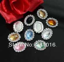 10pcs 17x21mm Acylic Center Rhinestone Button Diamante Wedding Embellishment  Hair Flower DIY Accessory( 7dc1660aa904