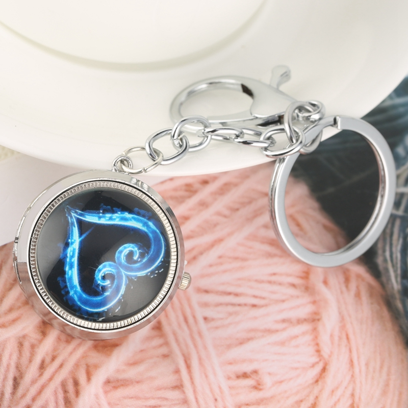 Keychain Watch Little Prince Theme Quartz Hanging Watch CCCP Little Cute Key Chain Charms Lover Heart Gifts For Men Women Girls