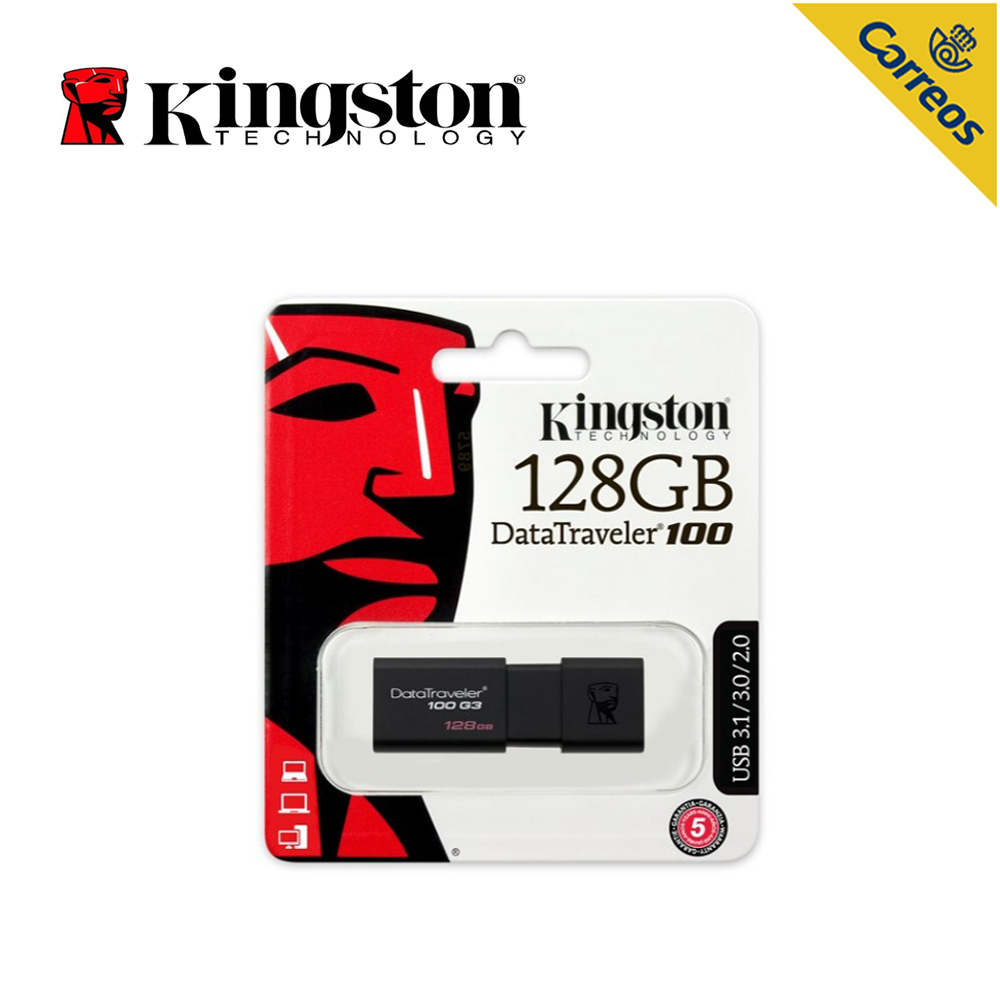 Kingston Technology128GB Flash Drive Mental USB Type A connector high speed Pendrive Stick Ring Memory Flash Memoria USB DT100G3
