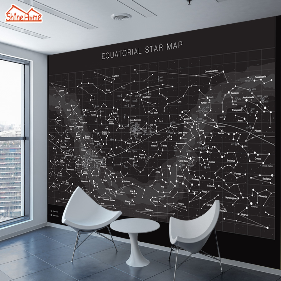 ShineHome Large Custom Photo Equatorial Star Map Wallpapers Walls D - How to read a star map