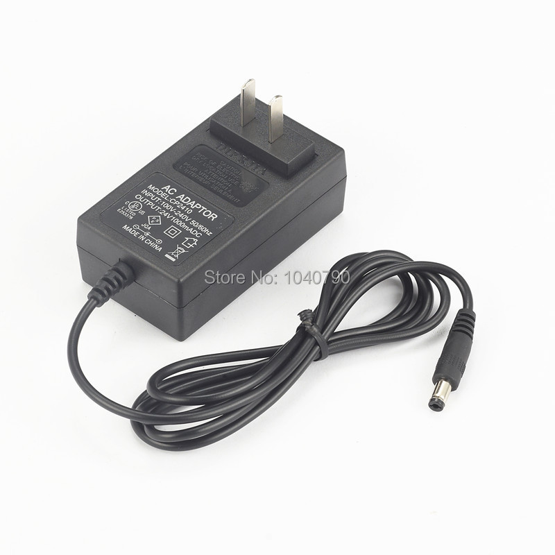 Black AC 100 240V to DC24V 1A Switching Power Supply Converter Adapter for Atomizer humidifier Other