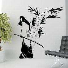 ФОТО kendo sticker samurai decal japan ninja poster vinyl art wall decals pegatina quadro parede decor mural kendo 2045 sticker