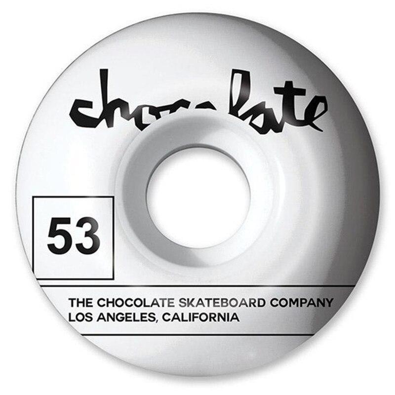 Купить с кэшбэком USA BRAND Chocolate Graphics Skateboard Wheels 51/52/53/54/55mm PU Skate Wheels Street Road Four Wheels Skateboarding