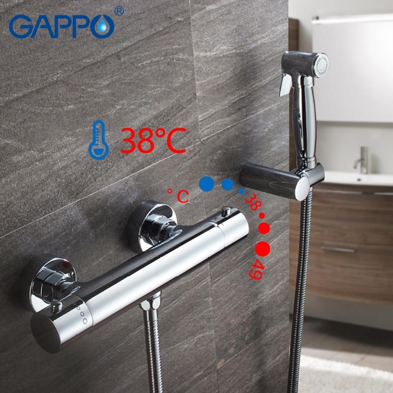 Bidet Armaturen Gappo Wand Montiert Bidet Wasserhahn Chrom-thermostatische Dusche Bidet Wc Sprayer Muslimischen Dusche Washer Mixer Wasserhahn Attraktiv Und Langlebig Heimwerker