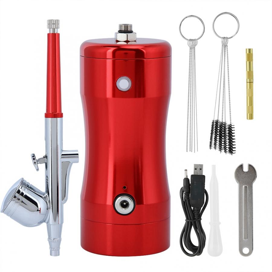 Spray Gun G12 Pump 0 3mm Mini 7CC Airbrush Kit Spray Air Brush Set Cleaning Tool