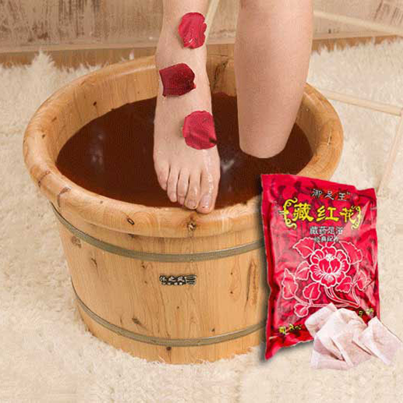 Natural Herb Foot Bath Pack Chinese Medicine Foot SPA Bubble Powder 100pcs/set Body Skin Care Detox Massage Skin Treatment hotsale traditional chinese bai dian ke vitiligo natural treatment for feminine hygiene skin care