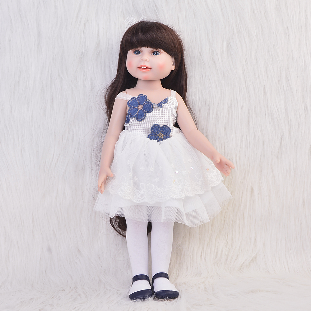 American 18 Girl Doll Full Vinyl Fashion Baby Toy Realistic Baby Alive Doll Handmade Baby Toys Collectible American Girl [mmmaww] christmas costume clothes for 18 45cm american girl doll santa sets with hat for alexander doll baby girl gift toy