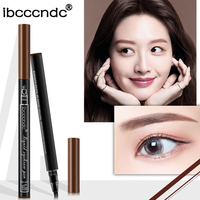 Microblading Eyebrow Tattoo Pen Fine Sketch 3 Head Liquid Eyebrow Pen Waterproof Tattoo Eye Brow Pencil 1