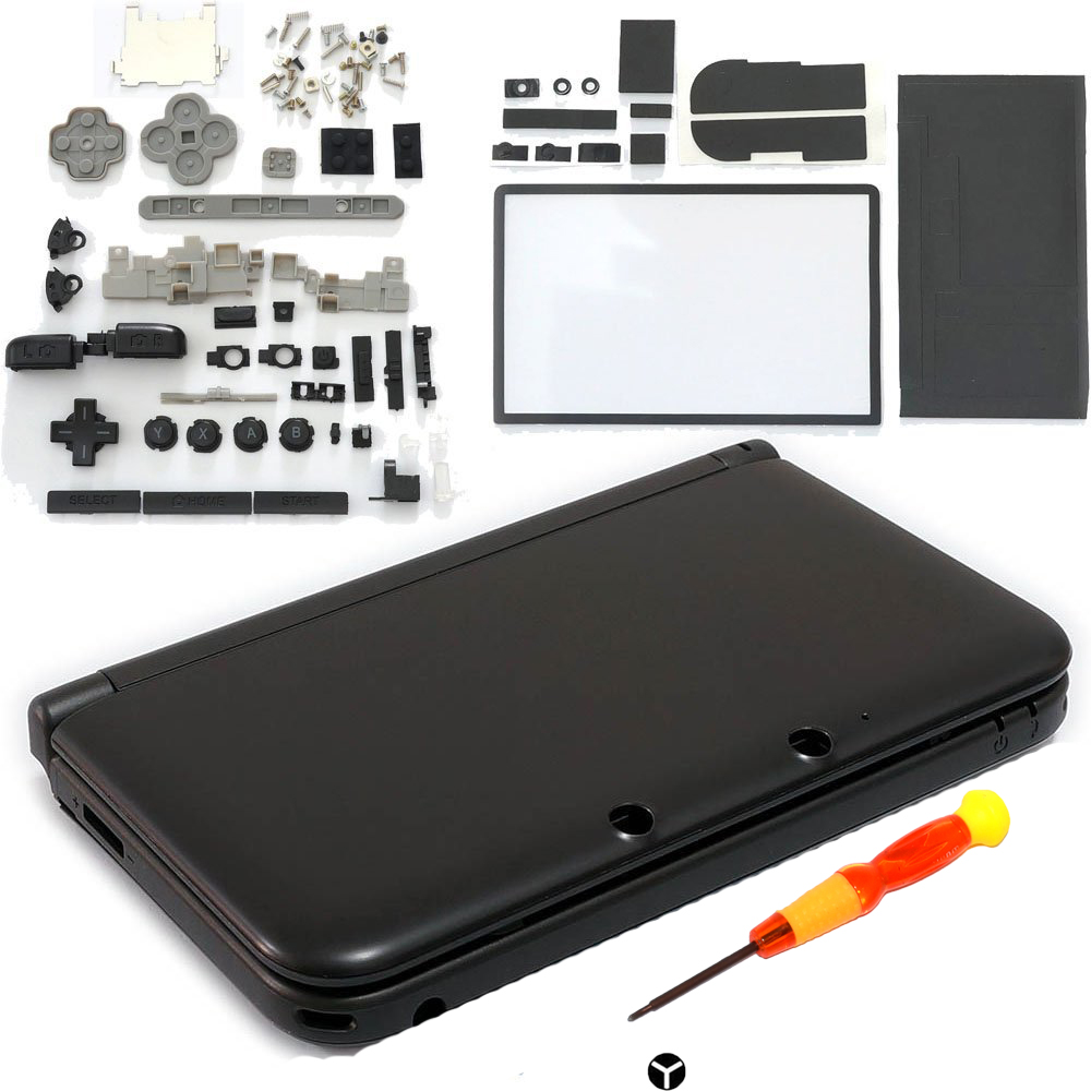 Full Housing Shell Case Cover Faceplate Set Repair Part Complete Fix Replacement Free Screwdriver For Nintendo 3DS XL