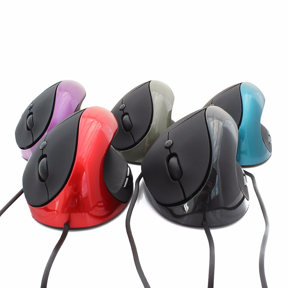 5PCS Vertical Mause Wired Wired Ergonomic Vertical Optical Mice Mouse Vertical Mouse USB Wrist Healing For Laptop PC Computer