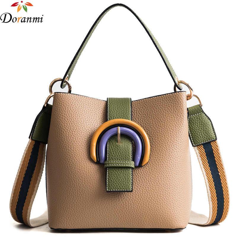 09613625d1e6 DORANMI Bucket Women Handbag 2018 Luxury Brand Designed Shoulder Bag For  Female PU Leather Buckle Crossbody