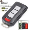 KEYECU 315 МГц ID46 PCF7952 чип OUC644M-KEY-N 2 + 1 3 кнопки дистанционного ключа Fob для Mitsubishi Lancer Outlander с нерезаемым лезвием
