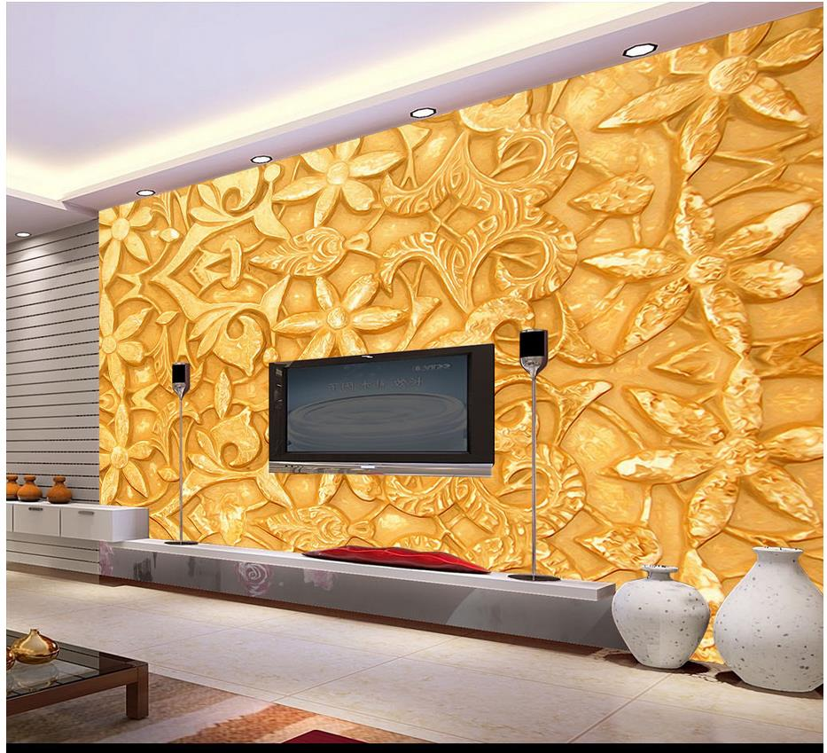 Aliexpress buy custom 3d photo wallpaper 3d wall mural aliexpress buy custom 3d photo wallpaper 3d wall mural wallpaper golden pattern embossed background wall paintings 3d wallpaper for living room from amipublicfo Gallery