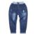 2016 Novo Estilo de Crianças de Jeans Meninos Calças Meninas Outono Crianças Designer de Moda Calças Jeans Casual Jeans Rasgado Para 2 ~ 9 Anos