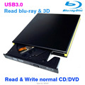 USB3.0 unidade Bluray Externo blu-ray combo ler disco blu-ray 3D e escrever normal CD DVD suporte de alumínio windows10 e Mac