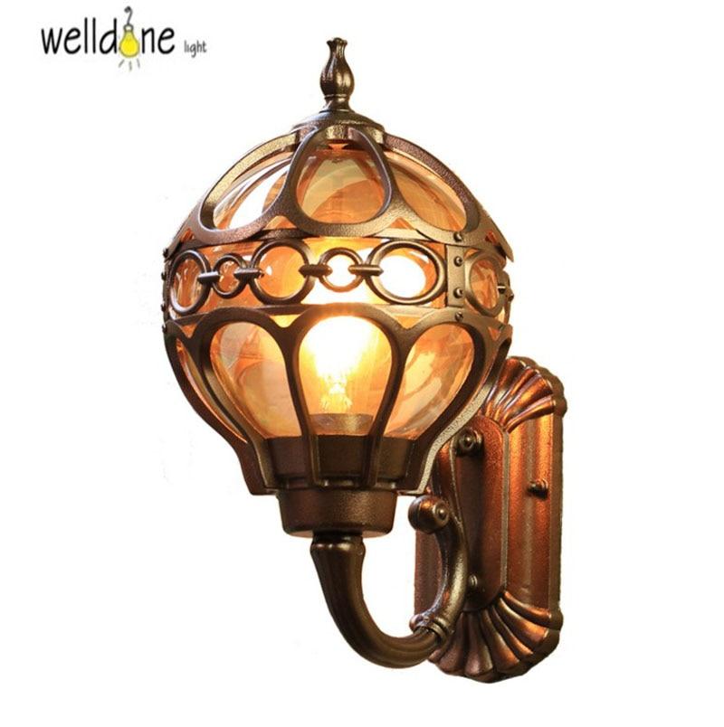 Europe wall lamp outdoor villa courtyard lighting aisle balcony corridor retro porch light waterproof