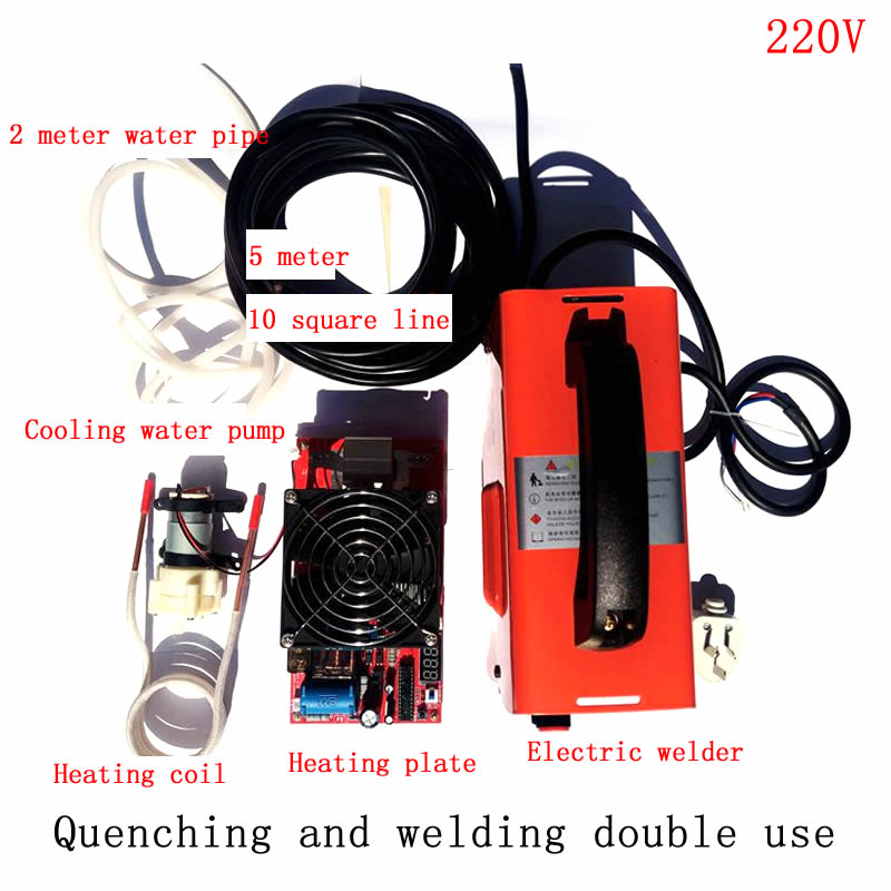ZVS Induction Heating Machine Quenching Melting Crucible Melting DC30-75v High Power 1-2Kw Electromagnetic High Frequency 220V