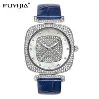 Reloj Mujer квадратные кварцевые женские часы женский кожаный браслет водонепроницаемые часы лучший бренд Роскошные часы оболочки лицо дрель