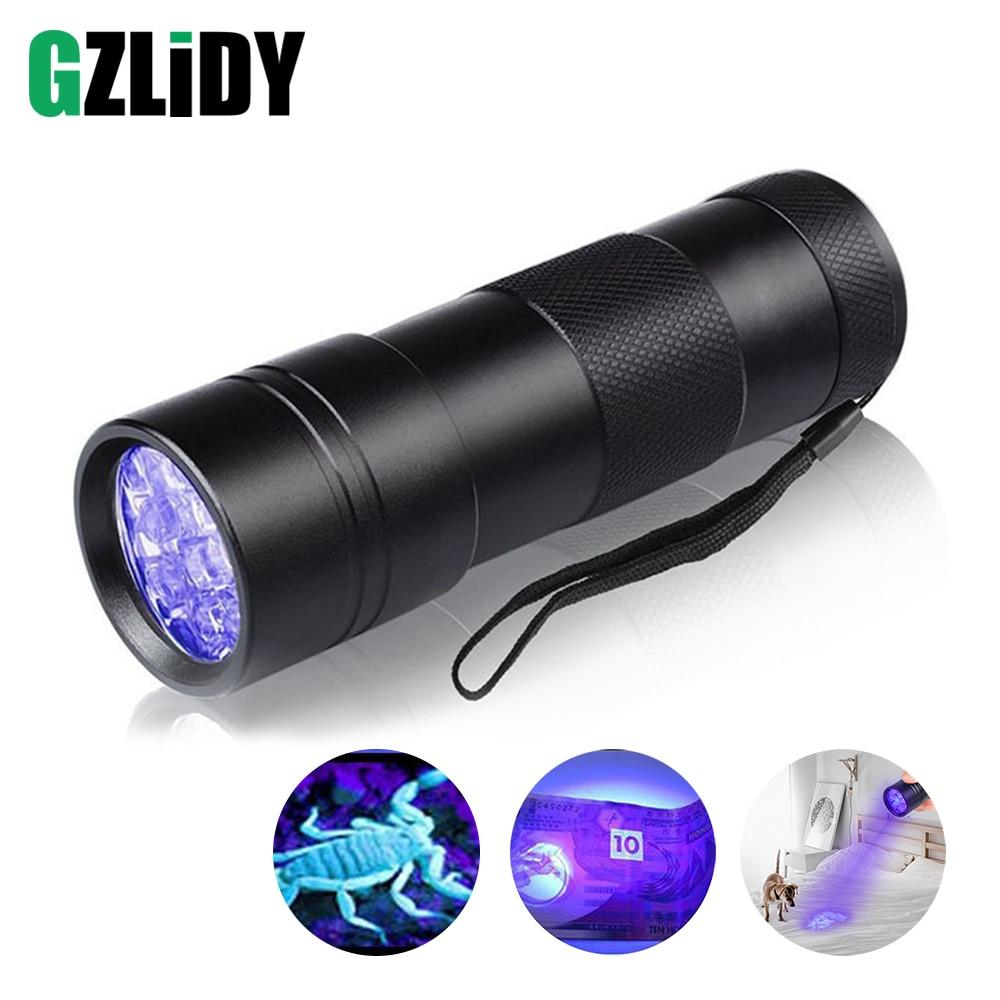 UV Flashlight 12 LEDs 395 Nm UV Detector Light For Dog Cat Urine Pet Stains Bed Bugs Scorpions Fluorescence Leaks Inspect
