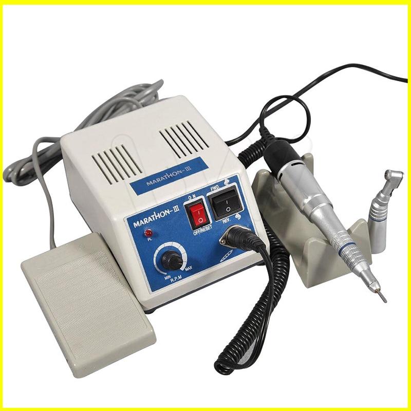 dental Lab micromotor polish with contra angle straight handpiece SEAYANG MARATHON 3 Electric Motor