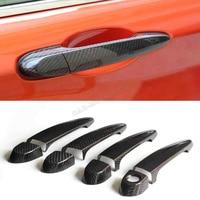 1 2 3 4 5 6 Series Universal Carbon Fiber Side Door Handle Cover Trim Kit