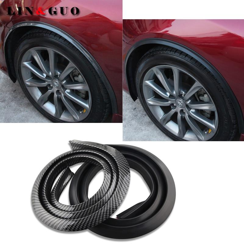 Car Wheel Eyebrow Protective Strips Stickers For Subaru Nissan Toyota Chevy Hyundai Honda Renault Car Styling