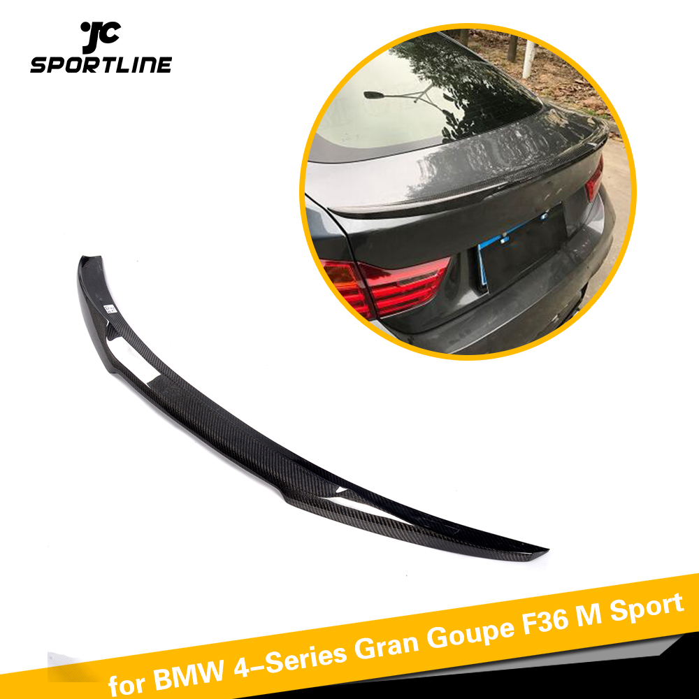 Carbon Fiber Car Styling Rear Trunk Spoiler Boot Lip Wing for BMW 4-Series Gran Goupe F36 M Sport 2015 - 2018Carbon Fiber Car Styling Rear Trunk Spoiler Boot Lip Wing for BMW 4-Series Gran Goupe F36 M Sport 2015 - 2018