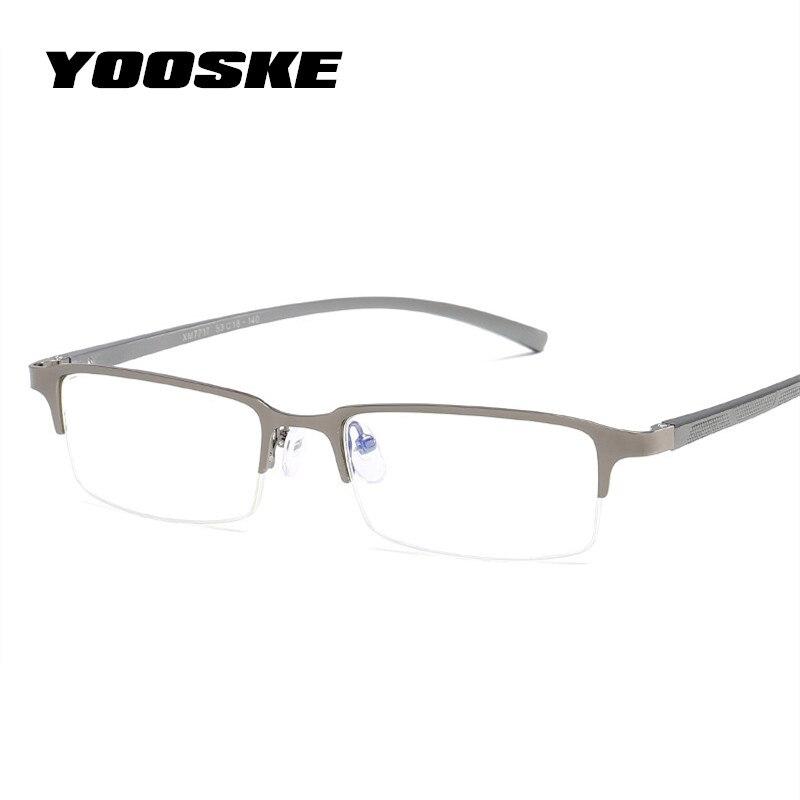 YOOSKE Men Blue Light Blocking Glasses Frame Transparent Blue Lens Eyeglasses Men Bussiness Spectacles Frames Aluminum Magnesium