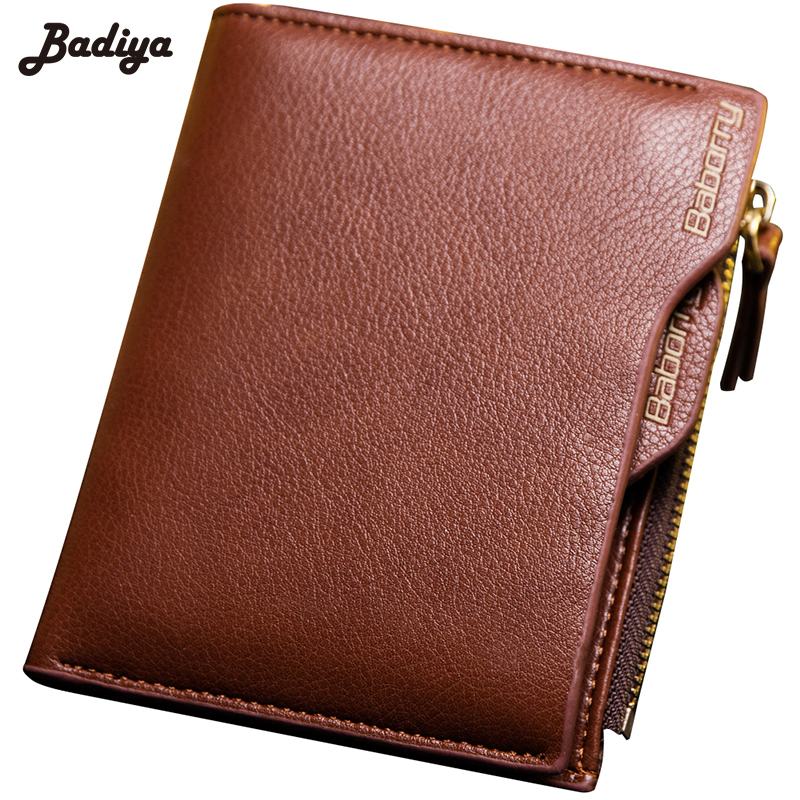 PU Leather Mens RFID Solid Short Wallet Bifold Anti Degaussing Wallets Multi-Card Holder Male Coin Purse