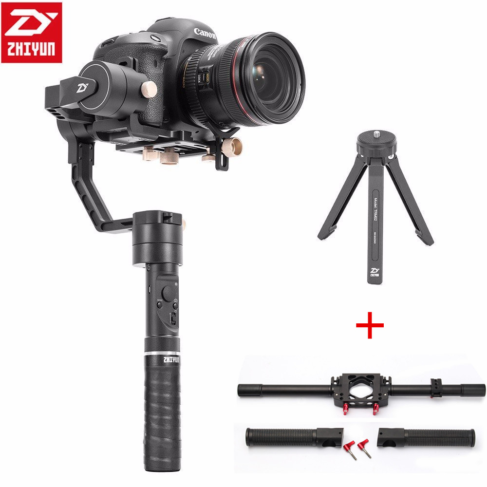 Zhiyun Crane Plus 3 Axis Handheld Gimbal Stabilizer 2.5KG Payload for Sony Canon Nikon Dsrls Mirrorless Camera+Dual Handle Grip цена