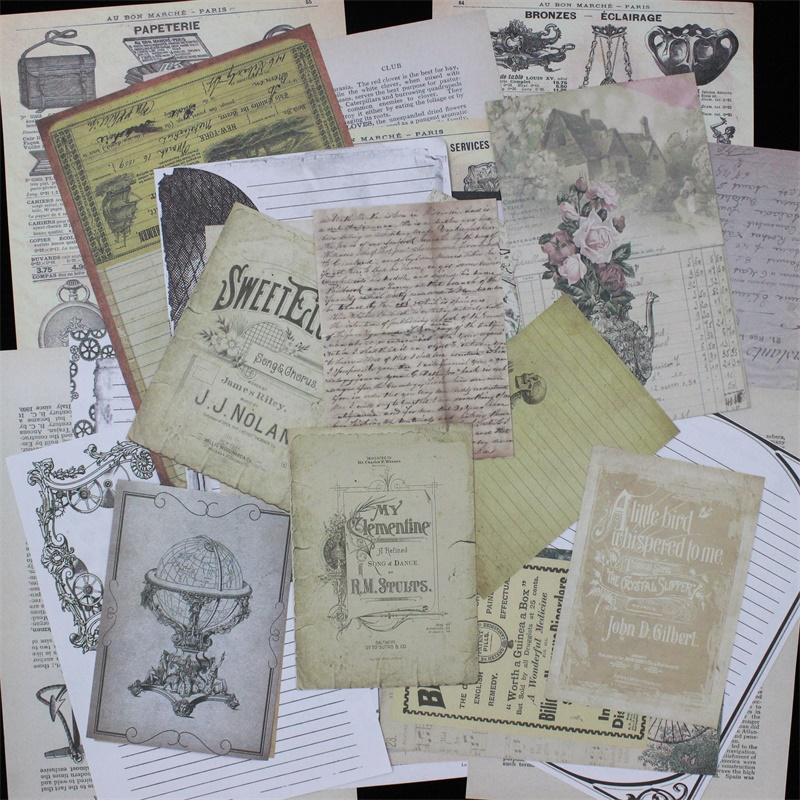 KSCRAFT Vintage Newspaper Junk Journal Paper Set for Scrapbooking Happy Planner/Card Making/Journaling Project ...