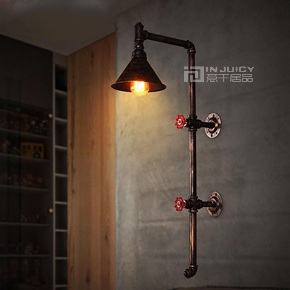 Industriel Edison Vintage rétro fer industriel Led tuyau d'eau chambre balcon salon Loft appliques applique murale luminaires